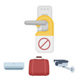 luggage surveillance camera air conditioning do vector image