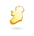 Map Contour of Ireland vector image