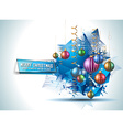 Merry Christmas Seasonal Background for your vector image vector image