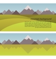 Mountain Background and seamless border vector image