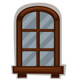 new window with round frame vector image vector image