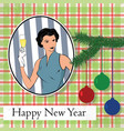 new year old greeting card vector image vector image