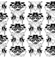 pattern with hand drawn female vector image