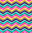 Pink yellow and blue zig zag seamless pattern vector image vector image