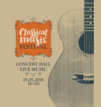 poster for festival classical music with a guitar vector image vector image