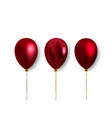 realistic balloons for decoration vector image vector image
