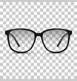realistic dioptric glasses isolated vector image