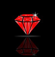 ruby diamond isolated vector image