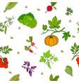 seamless pattern hand drawn fresh vector image