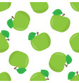 seamless pattern with a of green apples vector image vector image