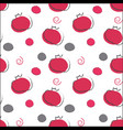 seamless pomeganate pattern red and gray colors vector image