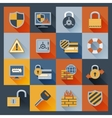 Security icons set flat vector image vector image