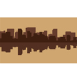 Silhouette of building in riverbank vector image vector image