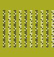 simple flat tropical pattern in green color vector image vector image