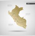 stylized peru map vector image