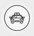 taxi universal icon editable thin line vector image