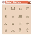 United Kingdom travel icon set vector image vector image