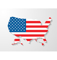 usa map with shadow effect vector image vector image