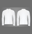 white polo shirt long sleeve vector image