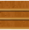 Wooden Book Shelf vector image vector image