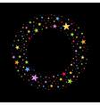 wreath multicolored stars vector image vector image