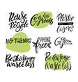 zero waste eco friendly go green plastic vector image vector image