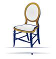 retro wood chair vector image