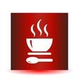 Soup Icon Button vector image