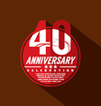 40 Years Anniversary Celebration Design vector image vector image