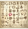 49 hand draw sketch communication element vector image