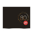 80 years anniversary decorated card template vector image