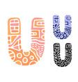 alphabet letter u kids education poster or vector image vector image