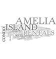 Amelia island bed breakfast text word cloud