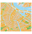 amsterdam city map vector image