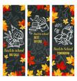 back to school sale web banner design vector image vector image