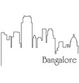bangalore city one line drawing vector image vector image