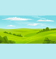 beautiful summer landscape with green hills vector image vector image