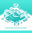 blockchain and bitcoin platform operation model vector image vector image