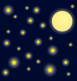 bright night sky background vector image vector image