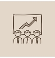 Business growth sketch icon vector image vector image