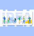 business idea flat people in office vector image vector image