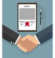Businessman handshake on contract vector image