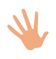 cartoon hand showing the five fingers vector image