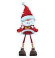cartoon santa claus christmas with a vector image