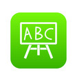 chalkboard with the leters abc icon digital green vector image