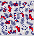 christmas pattern withmittens socks hats vector image vector image
