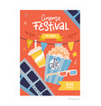 cinema movie festival placard banner card and vector image