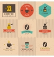 Coffee shop badges vector image