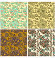 collection of seamless wallpaper background vector image vector image