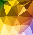 Colorful abstract polygon background vector image